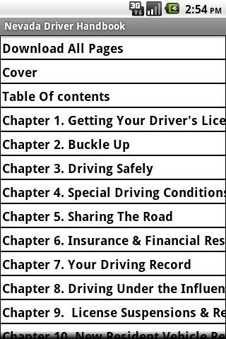 Nevada Driver Handbook