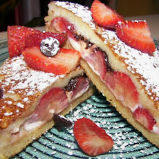 Chocolate and Strawberry Stuffed French Toast