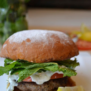 Greek Burger with Tzatziki