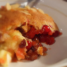 Spicy Cranberry, Mincemeat and Almond Eve's Pudding