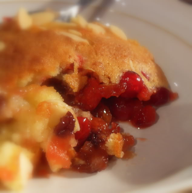 Spicy Cranberry, Mincemeat and Almond Eve's Pudding Recipe | Yummly