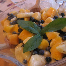 Mango, Banana and Blueberry Salad