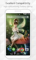 Screenshot of Flower Fairy Live Wallpaper