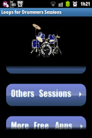Screenshot of Loops for drummers sessions