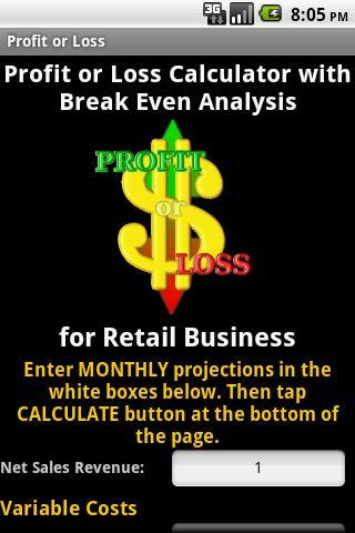 Profit or Loss - w Break Even