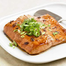 Peppery Jelly and Soy Glazed Salmon