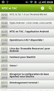 NTIC et TAC - screenshot
