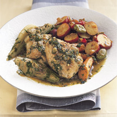 Chicken Tagine with Spring Vegetables