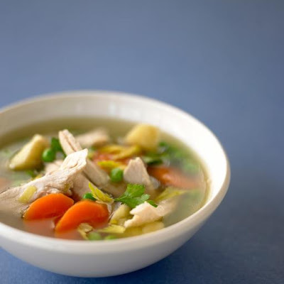 Poached Chicken & Vegetable Soup