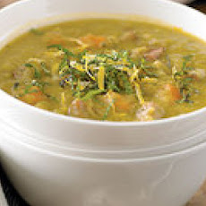 Smoky Split Pea Soup with Mint