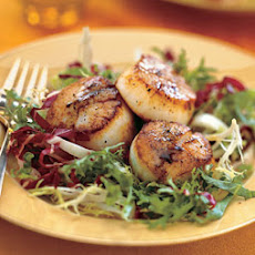 Seared Sea Scallops with Banyuls Vinegar and Chicory Slaw