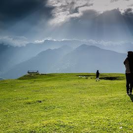 View From Bijli Mahadev Temple, Kullu, Himachal by Anuj Malik - Landscapes Travel ( hills, kullu, mountains, himachal pradesh, landscape )