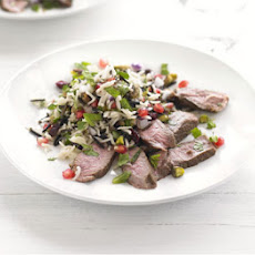 Grilled Lamb With Wintry Rice Salad
