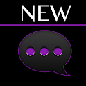 GO SMS Black Purple Theme icon
