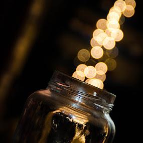 The bottle by Fitria Ramli - Artistic Objects Still Life ( lights, still life, art, nikon, bottle, bokeh,  )
