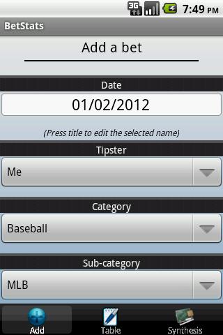 BetStats - Sports Bet Tracker - screenshot
