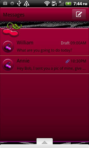 GO SMS THEME WildCherryZebra