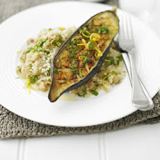 Roasted Aubergine With Bulghar & Zesty Dressing