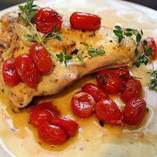 Quick Lemon Chicken with Garlic and Tomatoes