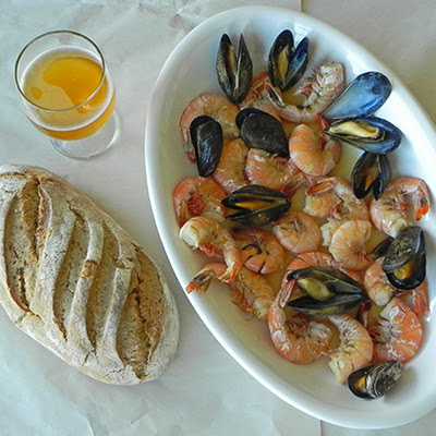 Shellfish in German Beer Broth