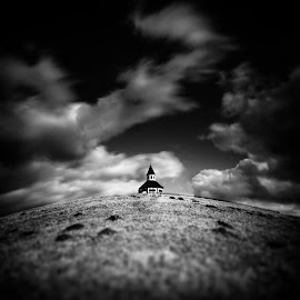 Things Left Unsaid by Michal Mierzejewski - Buildings & Architecture Public & Historical ( clouds, wind, church, windy, ar7, mierzejewski, art, back, werol, architecture, chapel, storm, landscape, photography, crucifix, fence, rood, troubles, buttock, cloudy, michal, cross,  )
