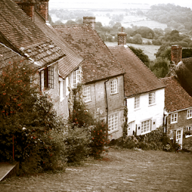 Gold Hill by Howard Ferrier - Buildings & Architecture Homes ( gold hill, england, shaftesbury, houses, cobblestones, street, paving )