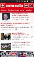 Screenshot of Corse-Matin