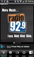 Screenshot of Radio 92.9 WBOS