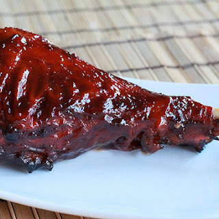 Smoked Turkey Legs with Whiskey Glaze