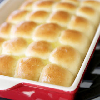 Butter-Topped One Hour Dinner Rolls