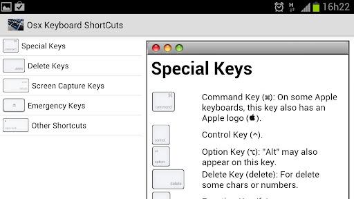 OSXのキーボードショートカット|玩生產應用App免費|玩APPs