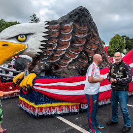 4th of July in Killarney, Ireland by Jay Gould - News & Events World Events ( parade, ireland, killarney, eagle statue, 4th of july, floats )