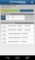 Screenshot of Virtual Wallet by PNC