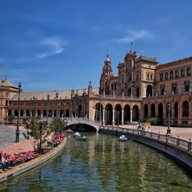 Sevilla, Spain by Rachel Ellentuck - Landscapes Travel ( seville, landscape photography, casa de espana, travel, sevilla, spain )