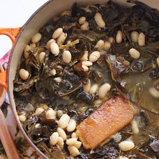 Stewed Collard Greens and White Beans