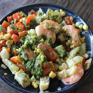 Make-Ahead Chimichurri Shrimp and Corn Salad