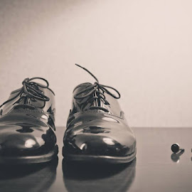 The grooms shoes by J P - Wedding Details ( shoes, cufflinks )