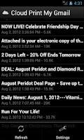 Screenshot of Cloud Print My Gmail