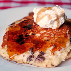 Banana Coconut and Chocolate Chip Pancakes