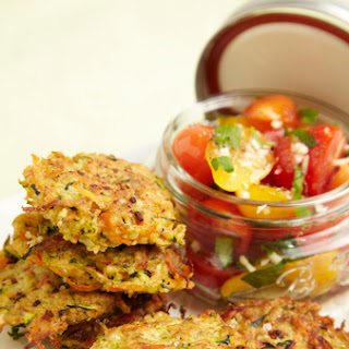 Zucchini Fritters with Fresh Tomato Salsa