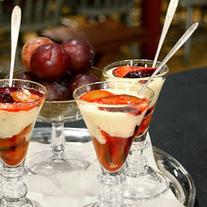Tapioca Pudding with Glazed Plums