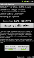 Screenshot of Battery Calibration