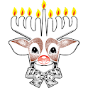 Rudolph the Menorah icon