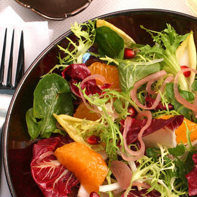 Chicory, Tangerine, and Pomegranate Salad