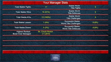 Screenshot of Boxing Manager Game Round 2