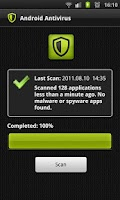 Screenshot of Android Antivirus.