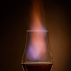 Whiskey with Bite by Stefan Roberts - Food & Drink Alcohol & Drinks ( bourbon, flames, whiskey, scotch, whisky, fire )