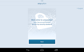 Screenshot of Binary Options - anyoption