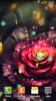 Screenshot of Neon Flowers Live Wallpaper