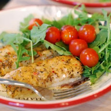 Tuscan Herb Cod with Tomatoes & Arugula
